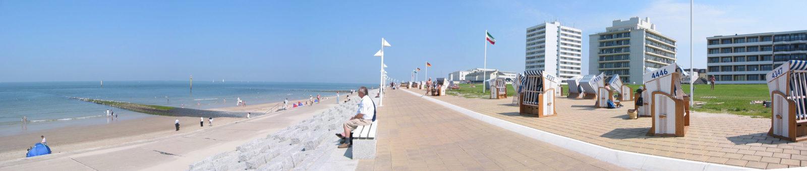 Promenade und Weststrand auf Norderney