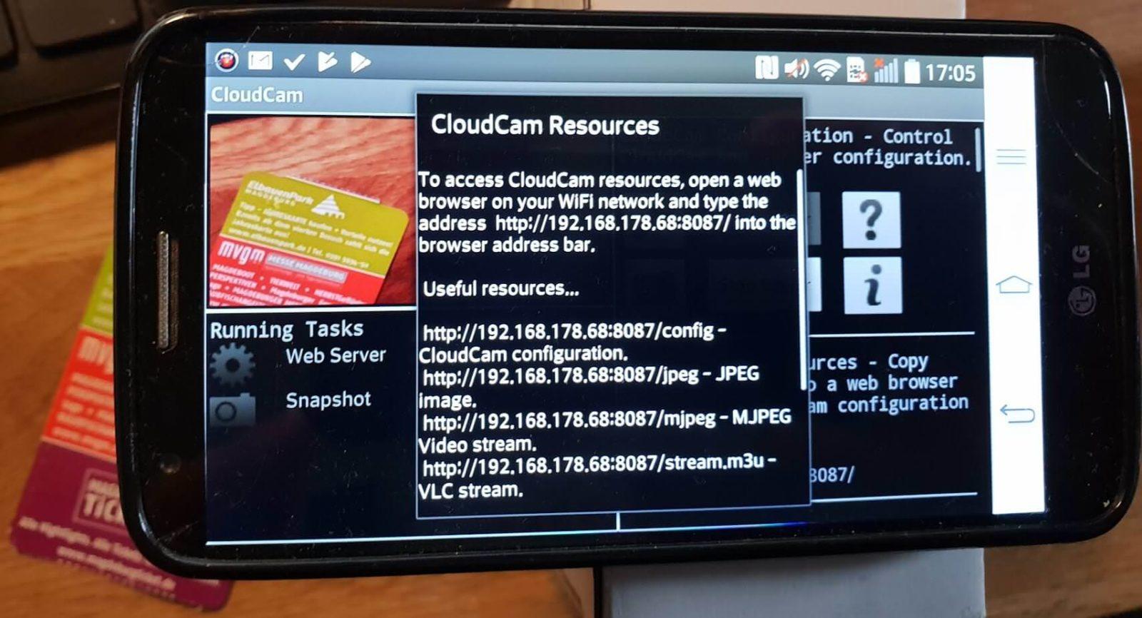 Der Server läuft und sendet alle 30 Sekunden ein Bild via FTP