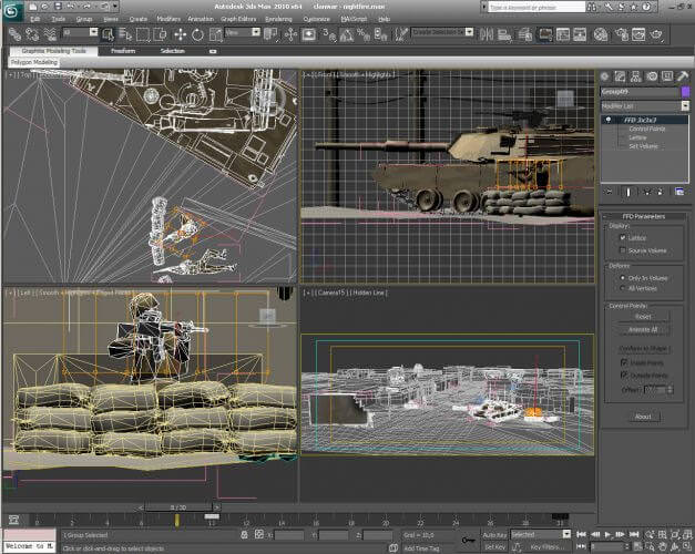 Making of in 3D Studio Max