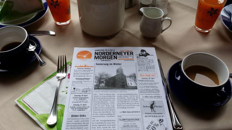"""Zum Frühstück der """"Norderneyer Morgen"""""""
