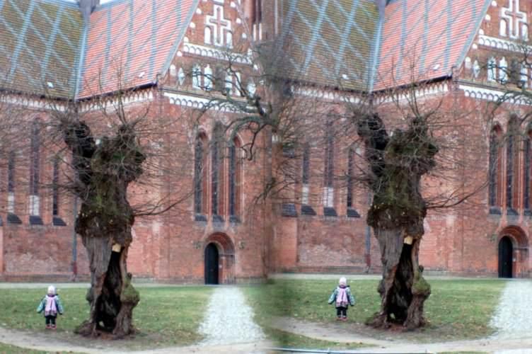 Kirche 3D Parallelblick