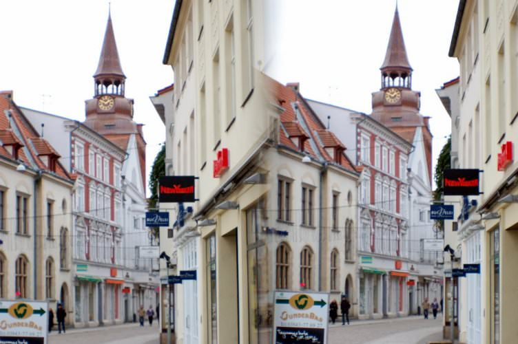 Strasse in 3D Parallelblick