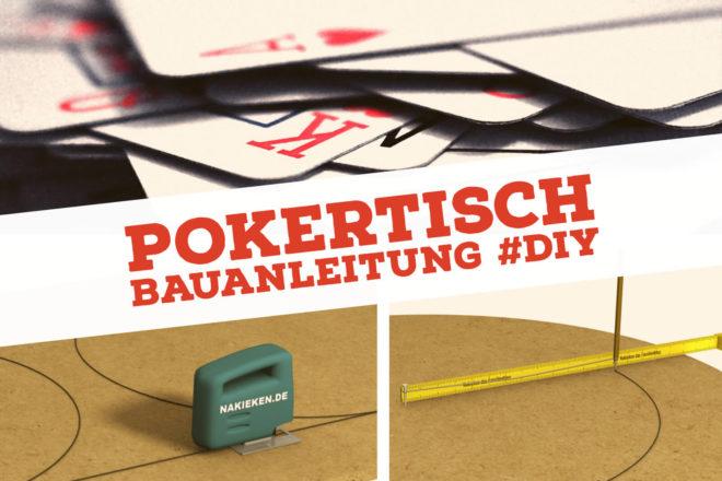 Pokertisch im Do-it-yourself-Verfahren gebaut