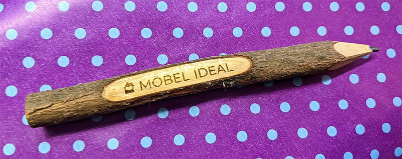 lasergravierter Bleistift