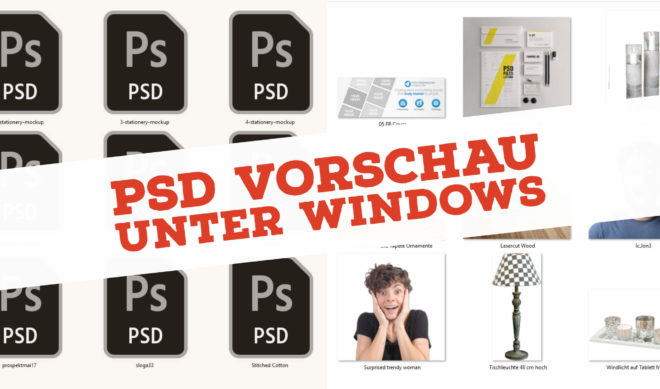 Photoshop Thumbnails unter Windows