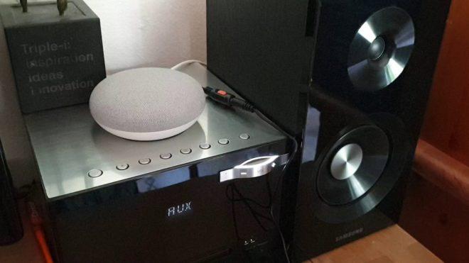 Google Home Mini an meiner HI-FI Anlage