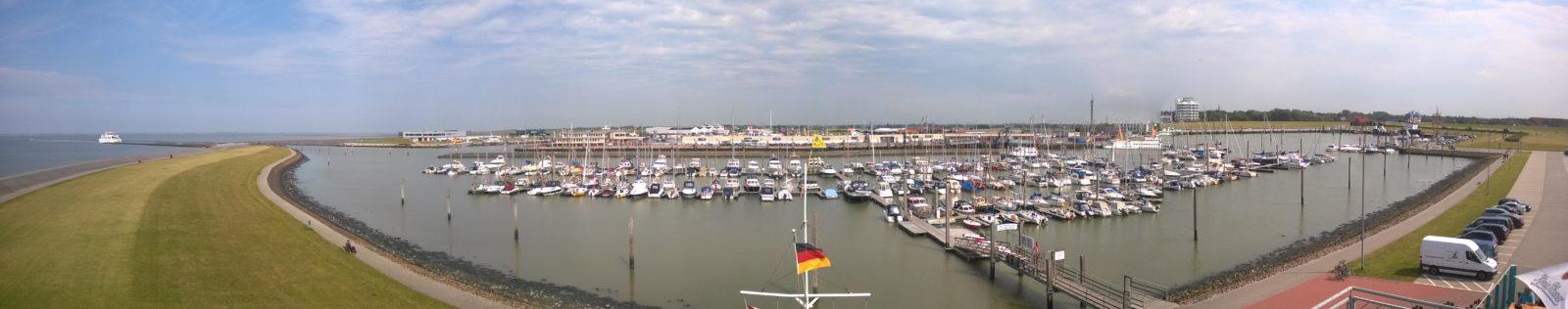 Hafenanlage auf Juist