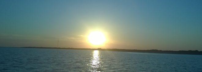 Sonnenuntergang vor Juist