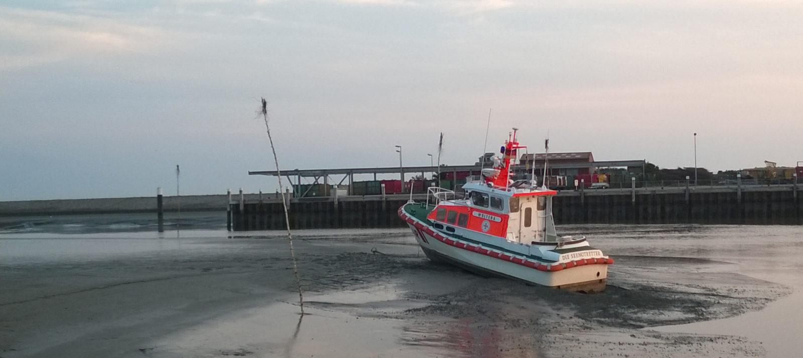 Ebbe im Hafen