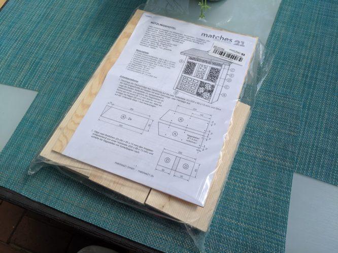 Auspacken des Bausatzes