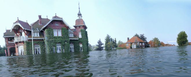 Rhauderfehn überflutet