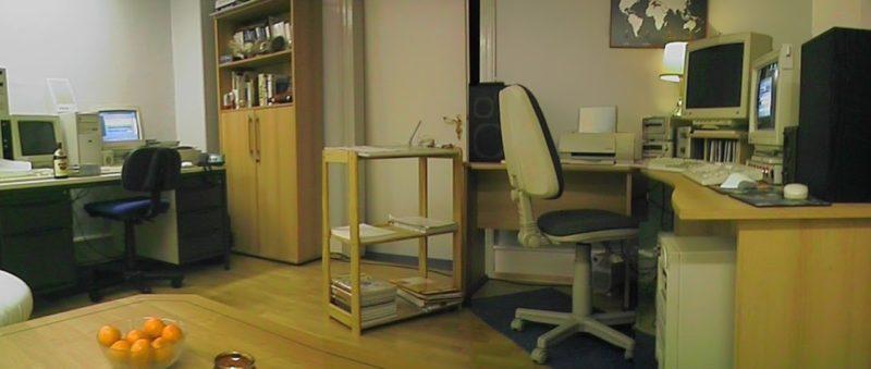Meine erste Wohnung, das Computerzimmer mit einem Pentium 100 und einem Pentium 90