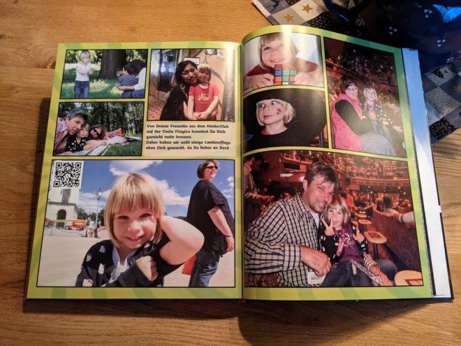 Unser Fotobuch mit QR Codes