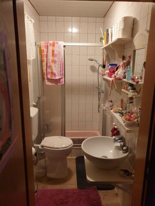 Unser rosa Badezimmer